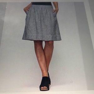Eileen Fisher Vertican Skirt Hemp/ Organic Cotton